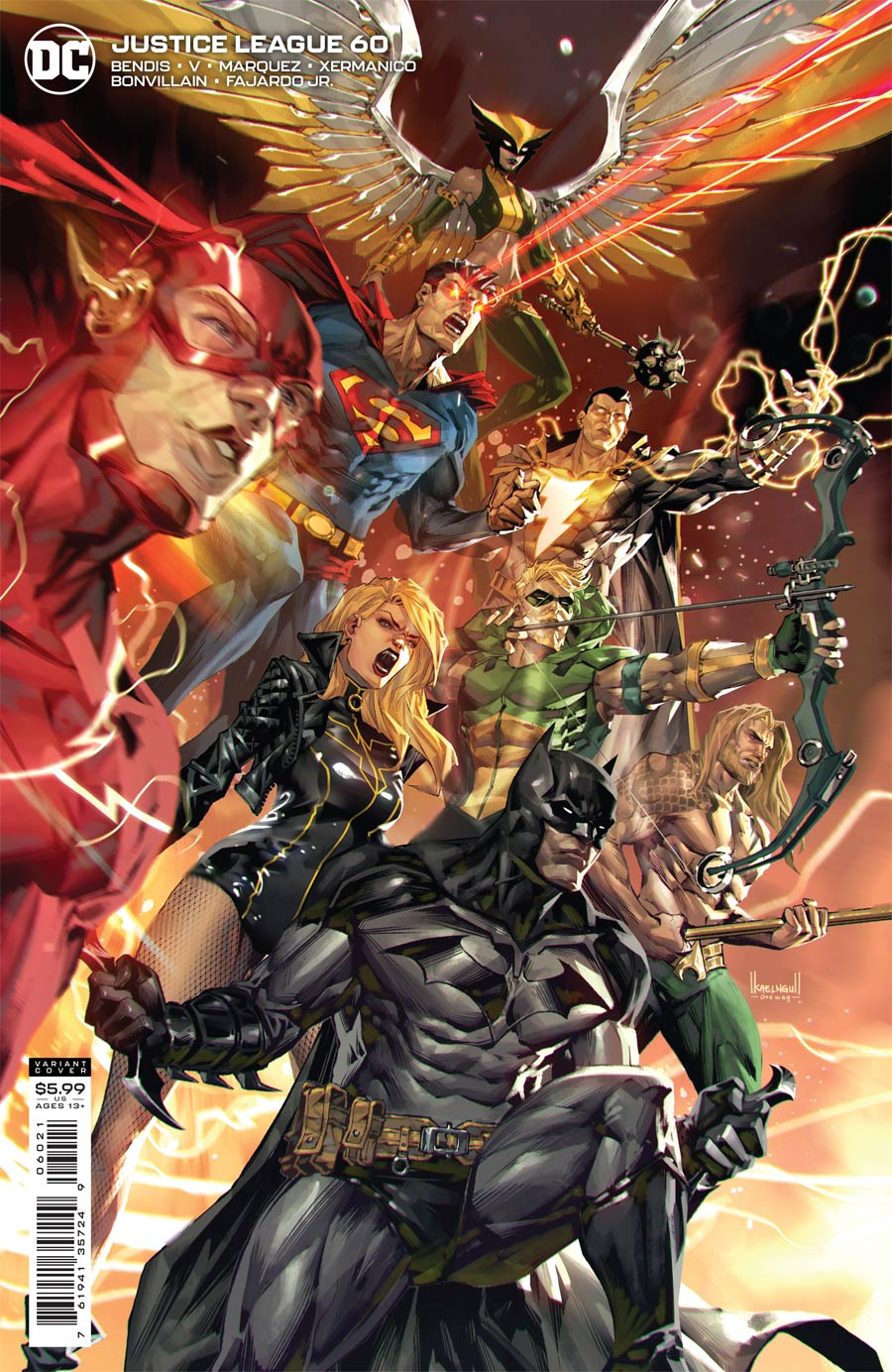 Justice League Vol 4 #60 Cover B Variant Kael Ngu Card Stock Cover