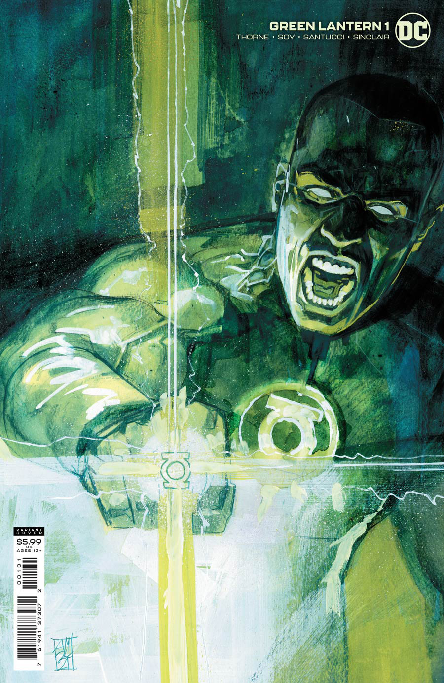 Green Lantern Vol 7 #1 Cover C Incentive Alex Maleev Card Stock Variant Cover