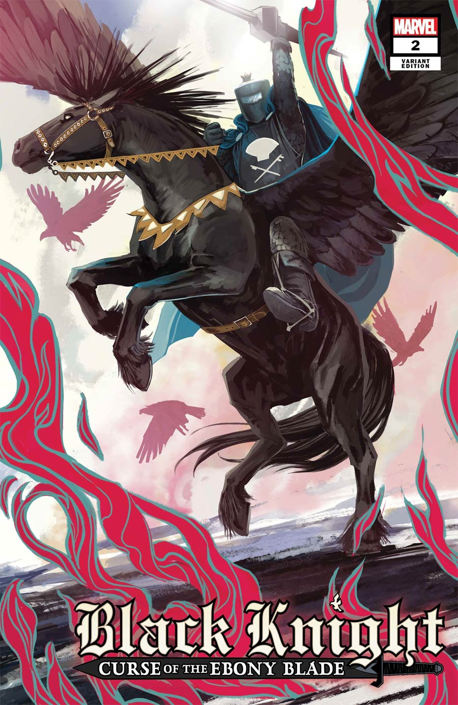 Black Knight Curse Of The Ebony Blade #2 Cover C Incentive Stephanie Hans Legend Of The Black Knight Variant Cover