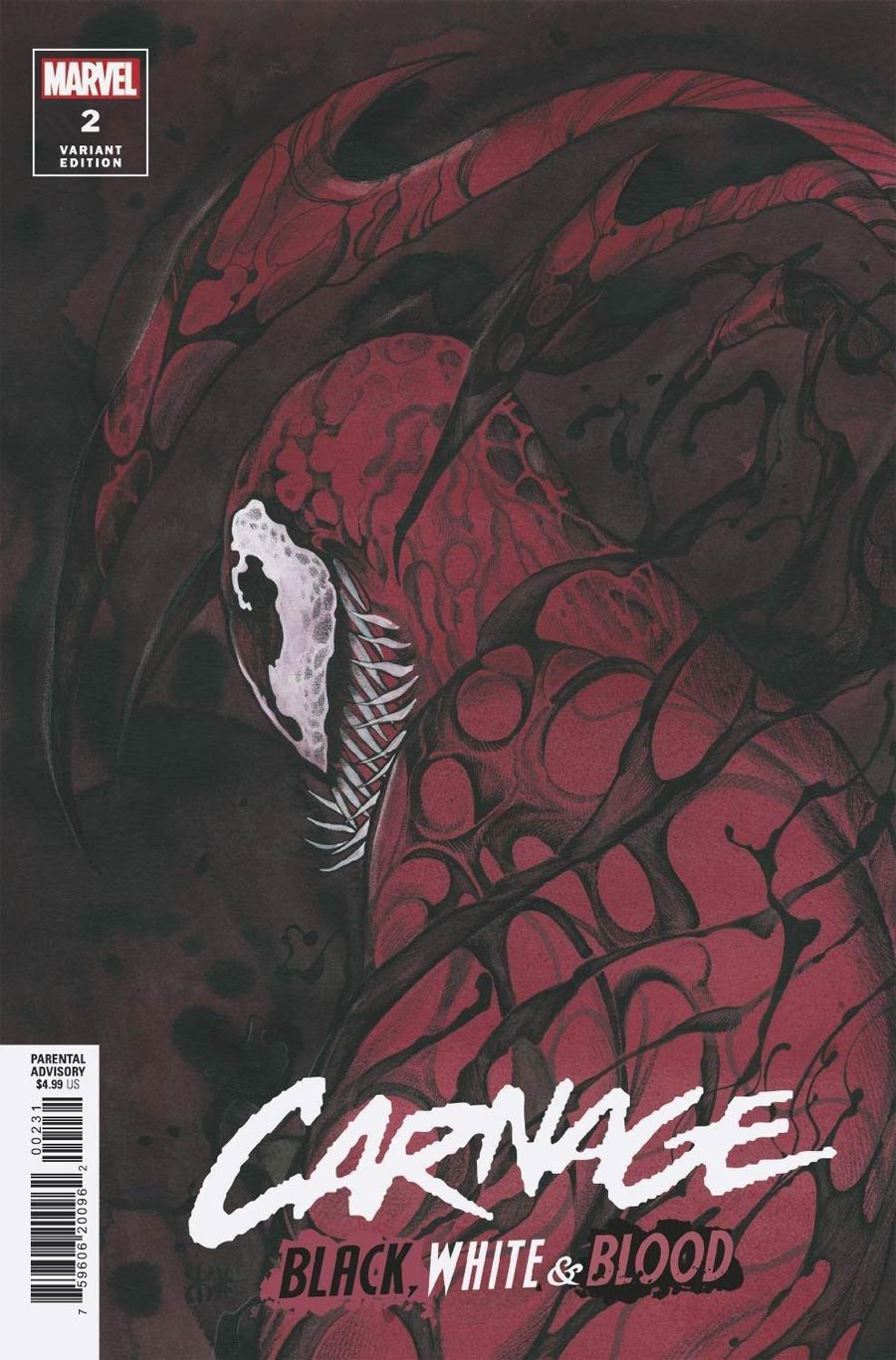 Carnage Black White & Blood #2 Cover C Incentive Peach Momoko Variant Cover