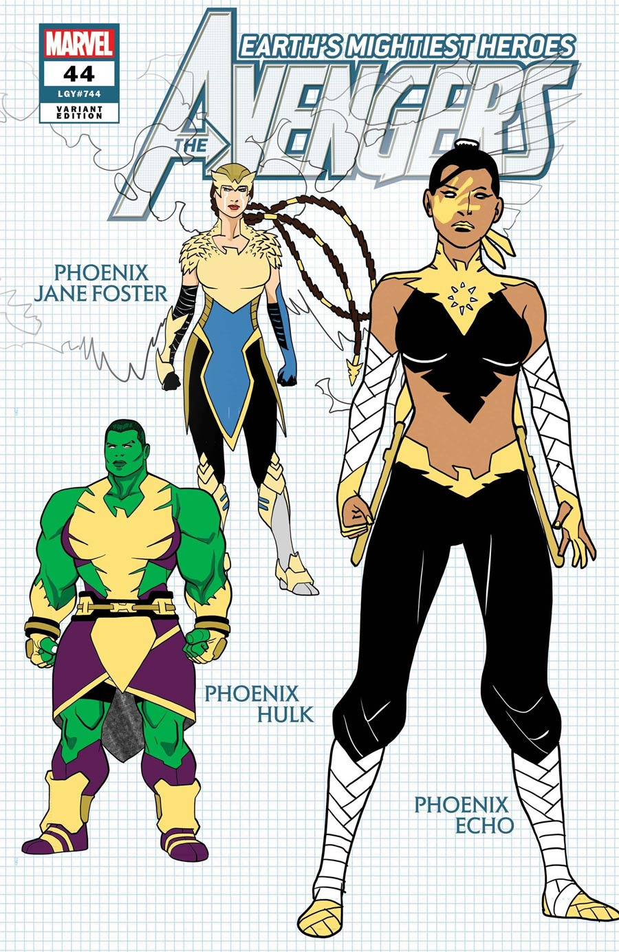 Avengers Vol 7 #44 Cover D Incentive Javier Garron Design Variant Cover