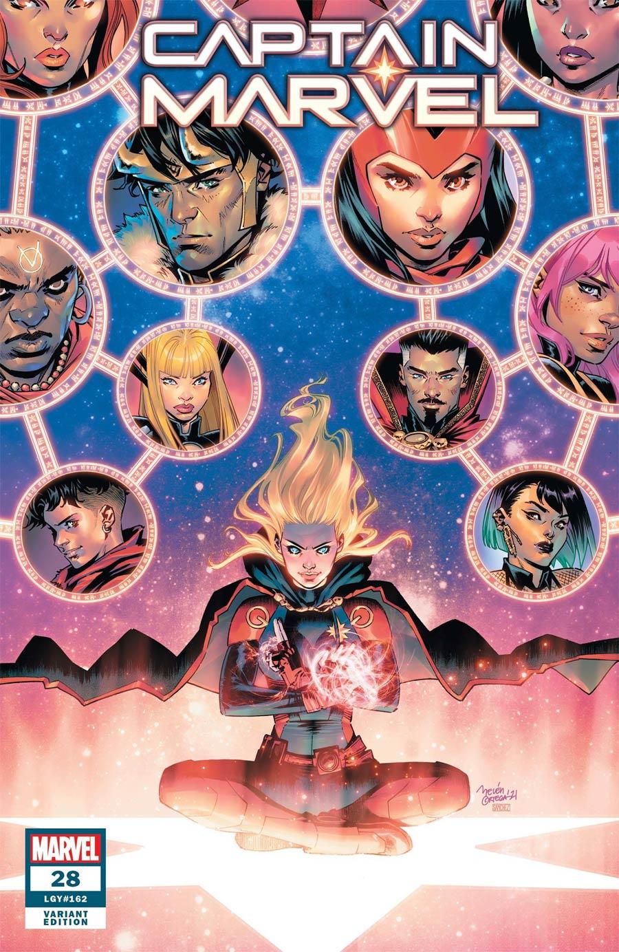 Captain Marvel Vol 9 #28 Cover C Incentive Belen Ortega Variant Cover