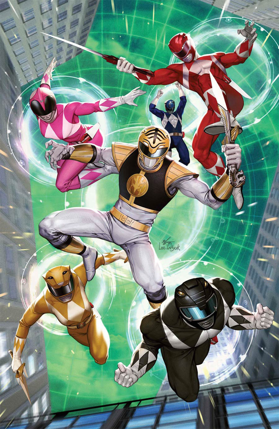 Mighty Morphin #6 Cover D Incentive Inhyuk Lee Virgin Cover