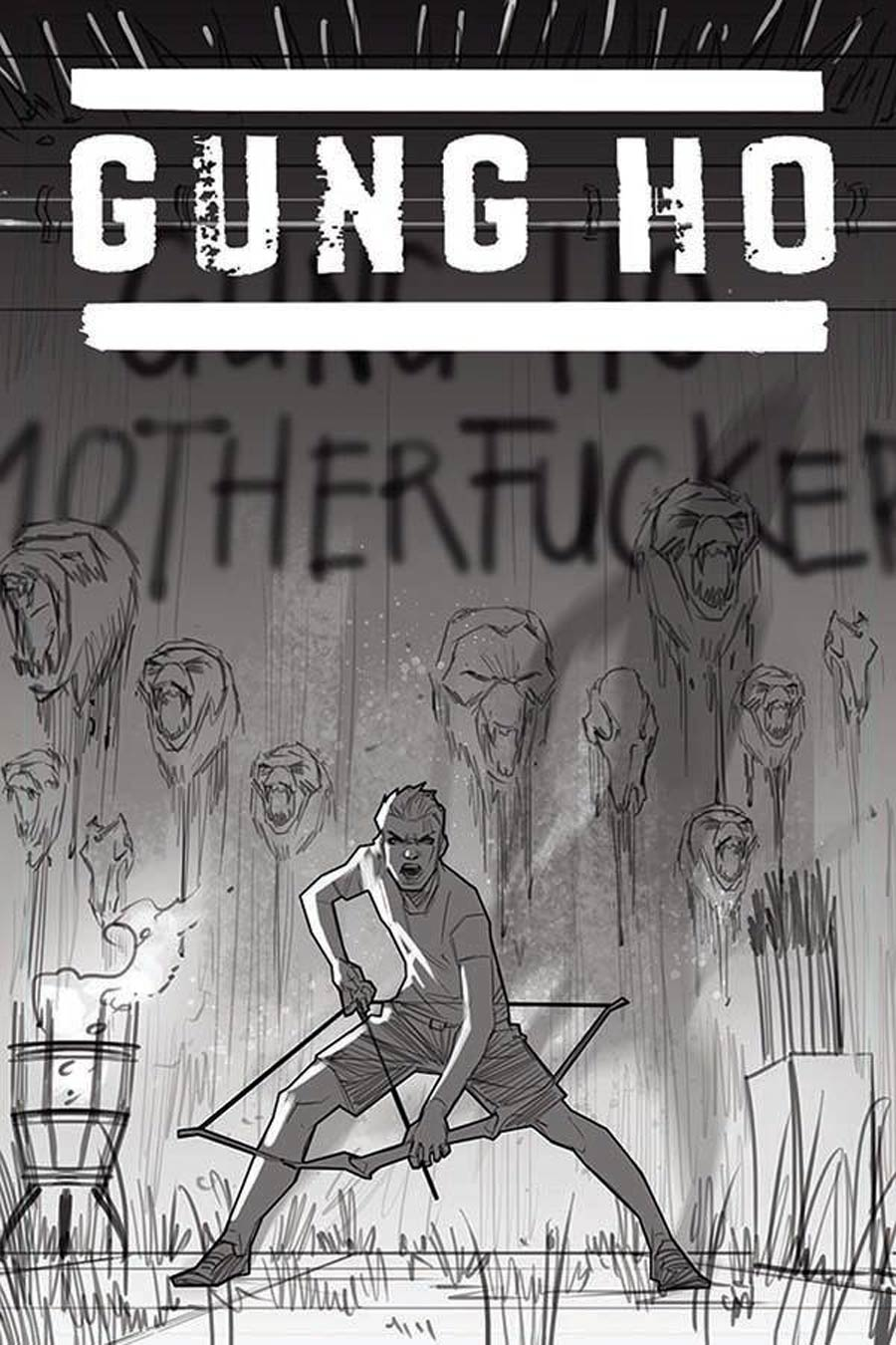 Gung-Ho Sexy Beast #4 Cover F Incentive Kael Ngu Black & White Line Art Cover