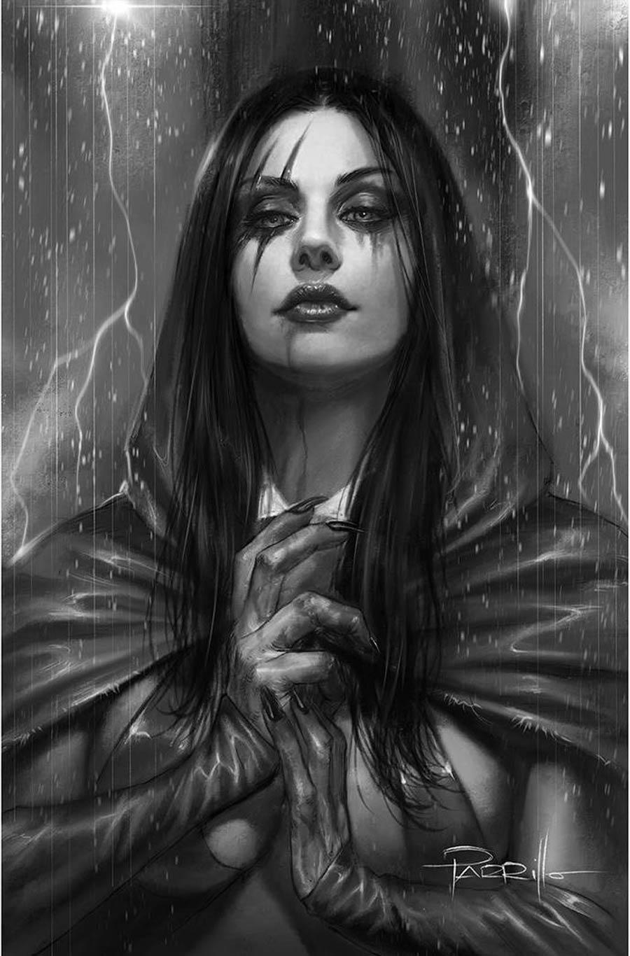 Vengeance Of Vampirella Vol 2 #14 Cover K Incentive Lucio Parrillo Black & White Virgin Cover