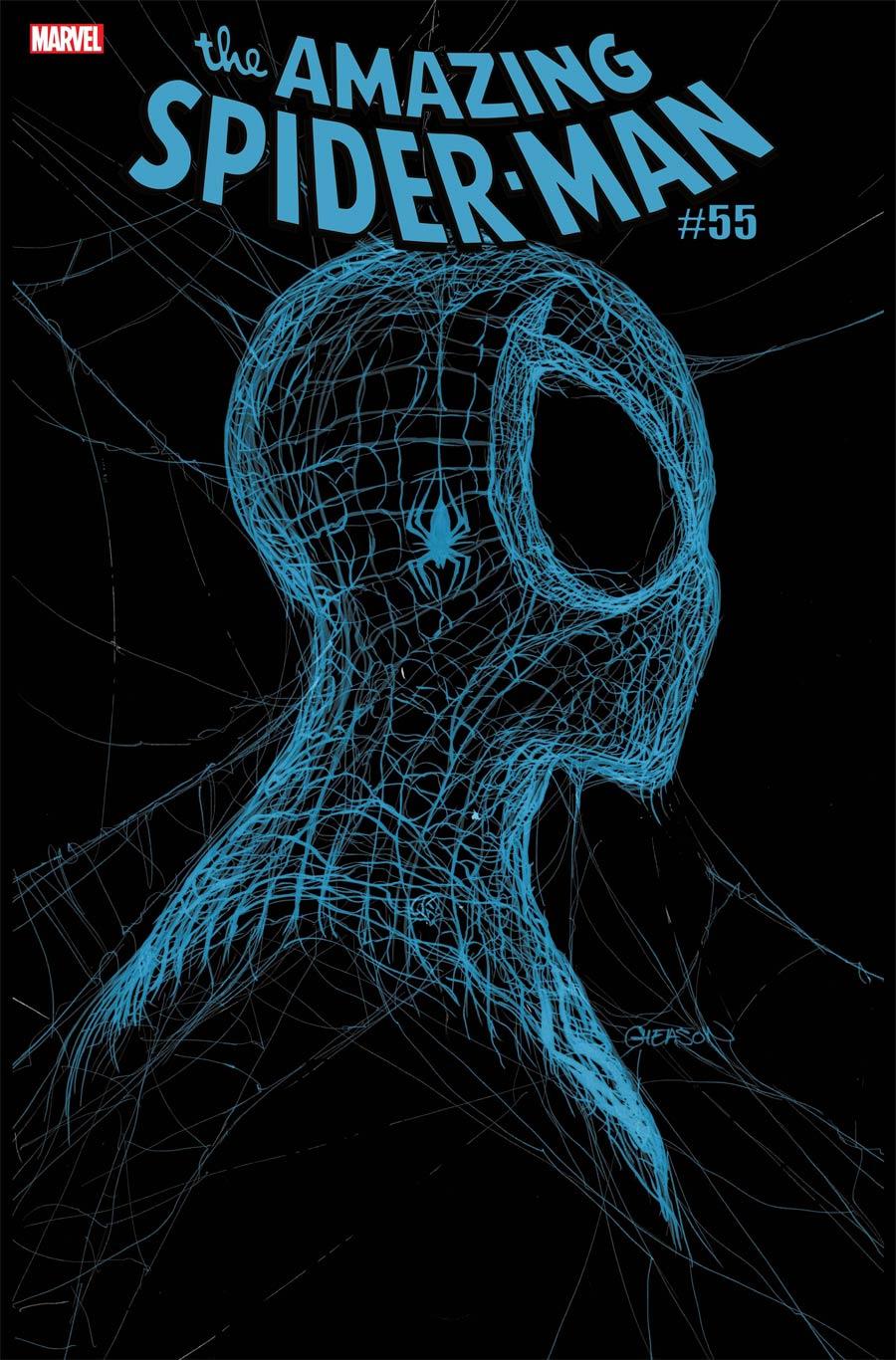 Amazing Spider-Man Vol 5 #55 Cover I 3rd Ptg Patrick Gleason Webhead Blue On Black Variant Cover