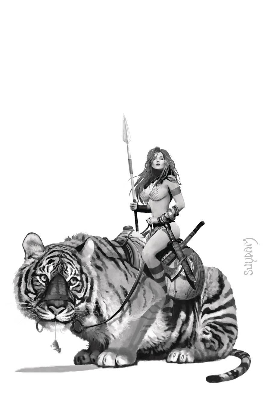 Red Sonja Price Of Blood #3 Cover M Incentive Arthur Suydam Black & White Virgin Cover