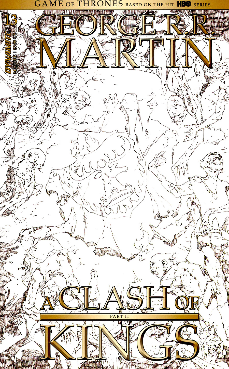 Game Of Thrones Clash Of Kings Vol 2 #13 Cover D Incentive Mel Rubi Black & White Cover