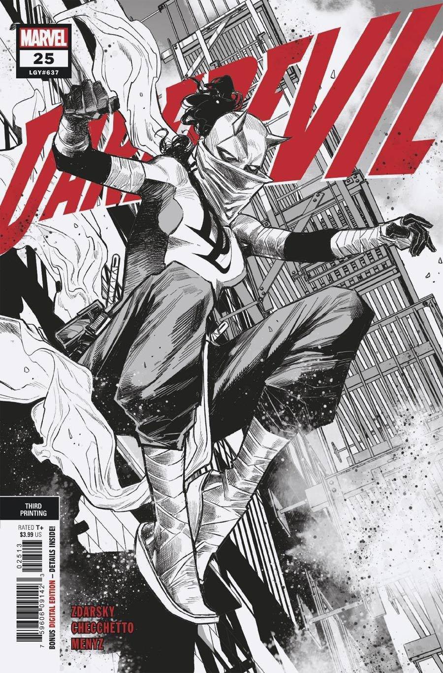 Daredevil Vol 6 #25 Cover H 3rd Ptg Marco Checchetto Variant Cover