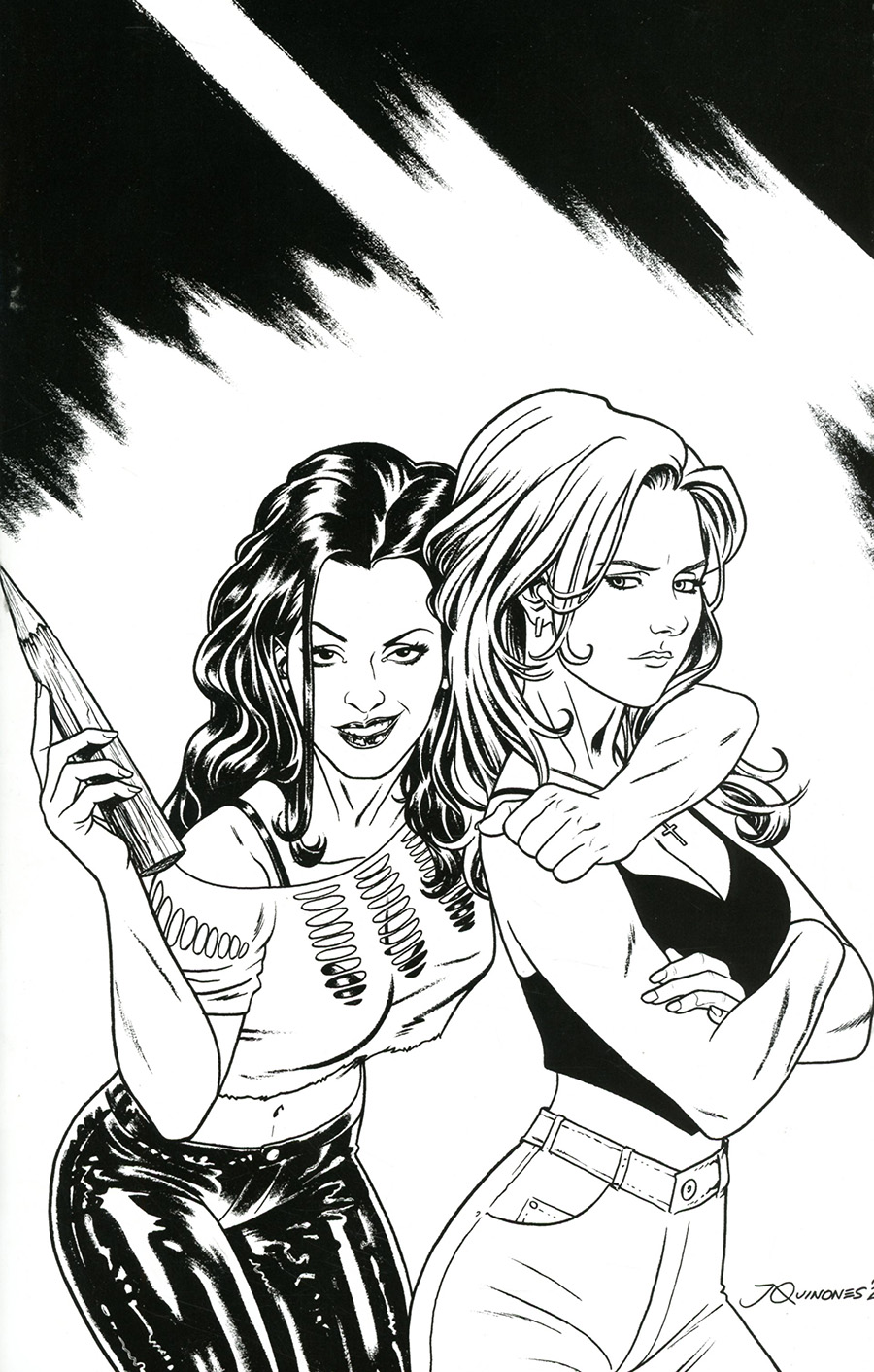 Buffy The Vampire Slayer Faith One Shot Cover E Incentive Thank You Variant Cover