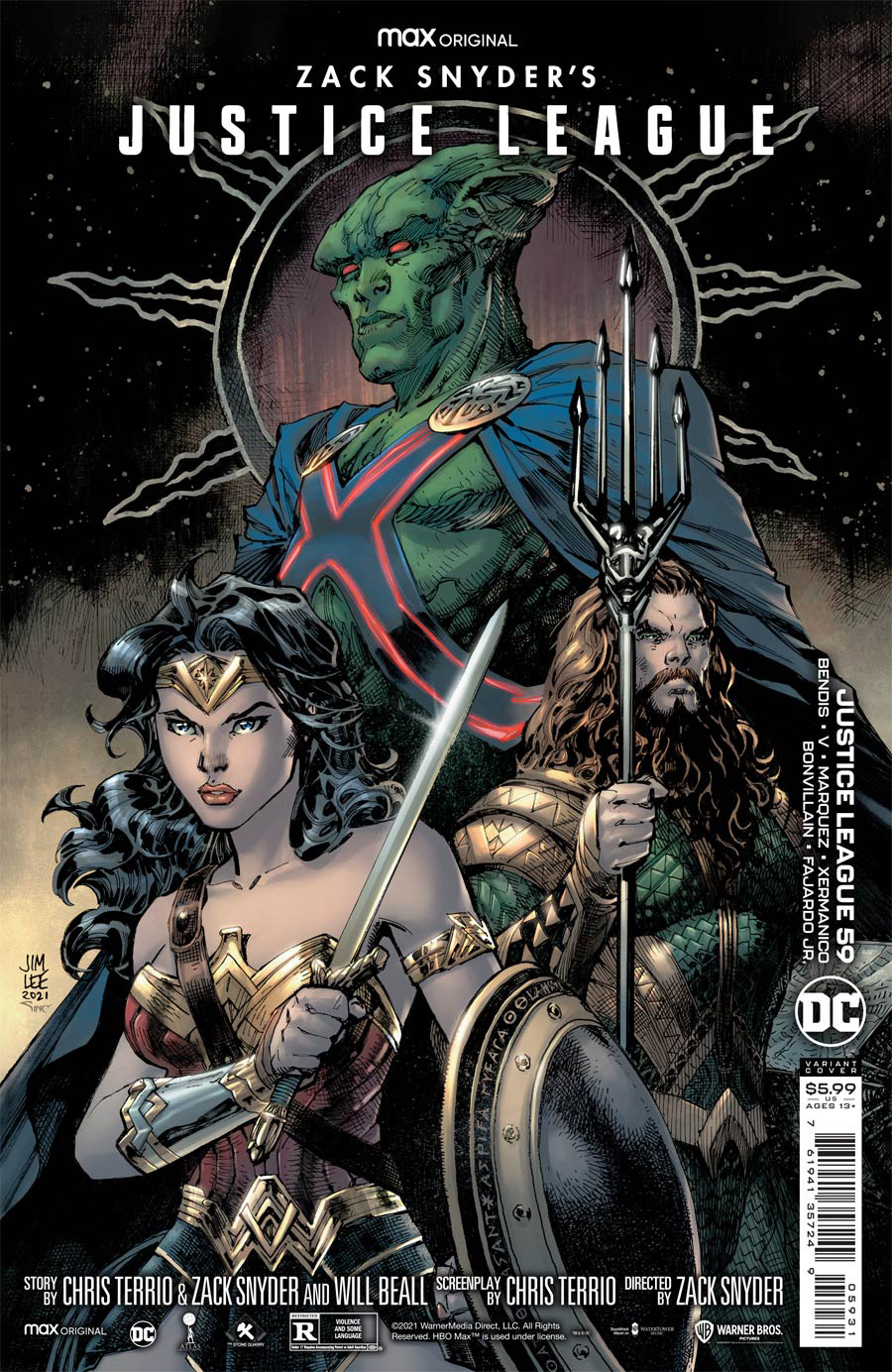 Justice League Vol 4 #59 Cover C Variant Jim Lee Snyder Cut Card Stock Cover