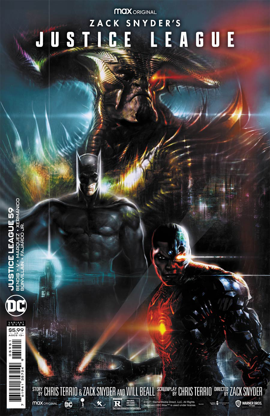 Justice League Vol 4 #59 Cover E Variant Liam Sharp Snyder Cut Card Stock Cover