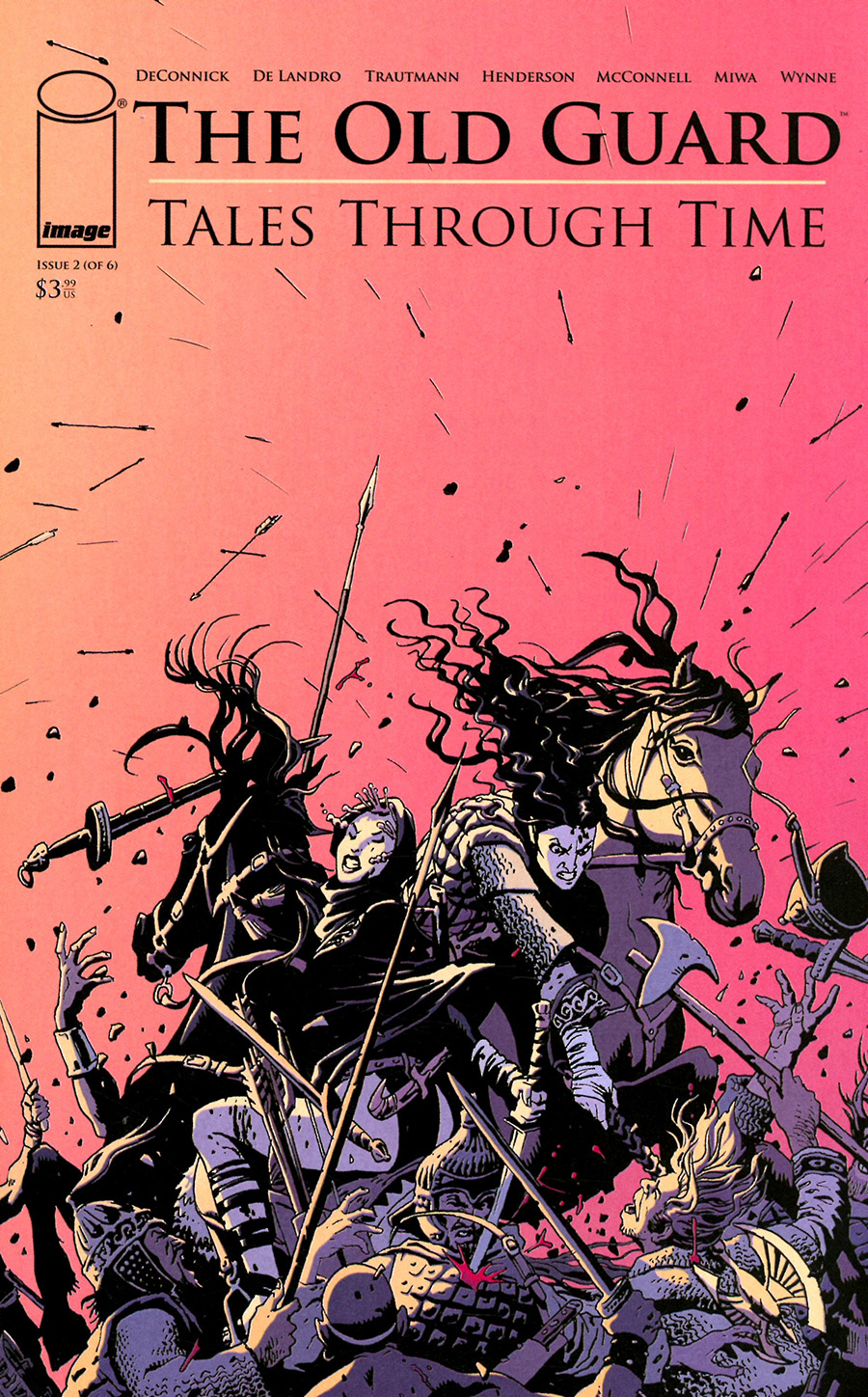Old Guard Tales Through Time #2 Cover C Variant Leandro Fernandez Interconnecting Battlefield Cover