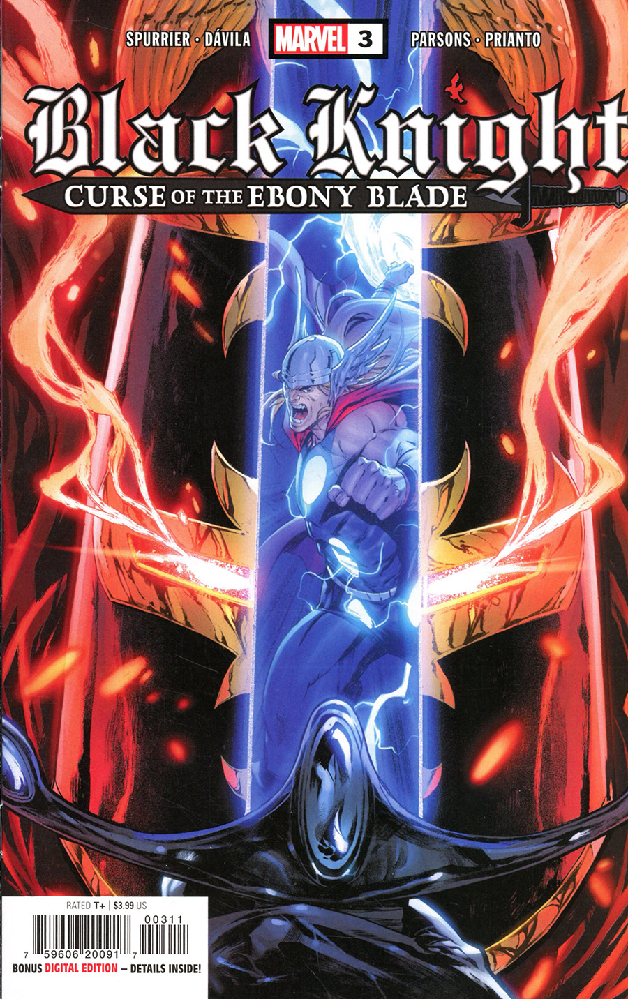 Black Knight Curse Of The Ebony Blade #3 Cover A Regular Iban Coello Cover