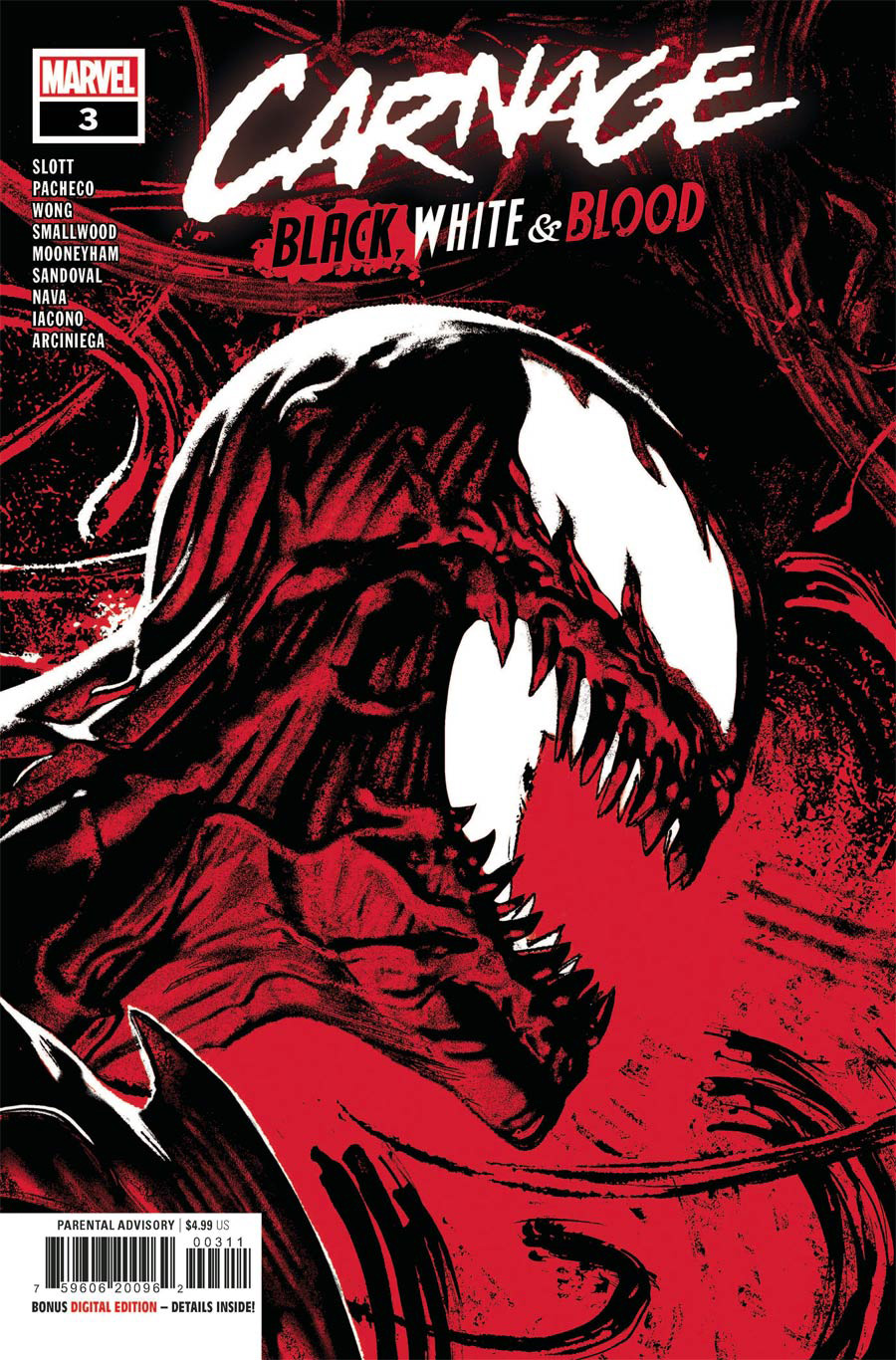 Carnage Black White & Blood #3 Cover A Regular Greg Smallwood Cover