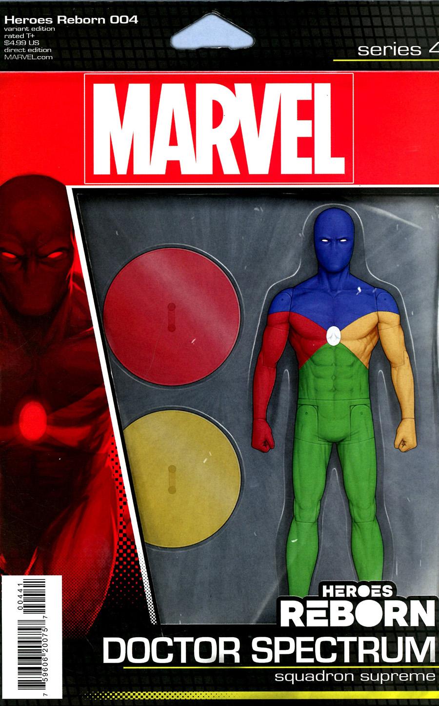Heroes Reborn #4 Cover C Variant John Tyler Christopher Action Figure Cover