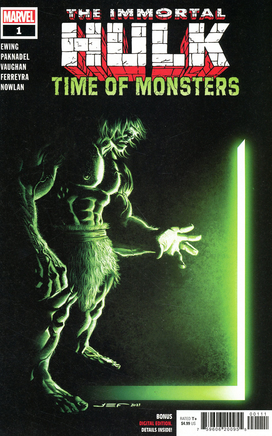 Immortal Hulk Time Of Monsters #1 (One Shot) Cover A Regular Juan Ferreyra Cover