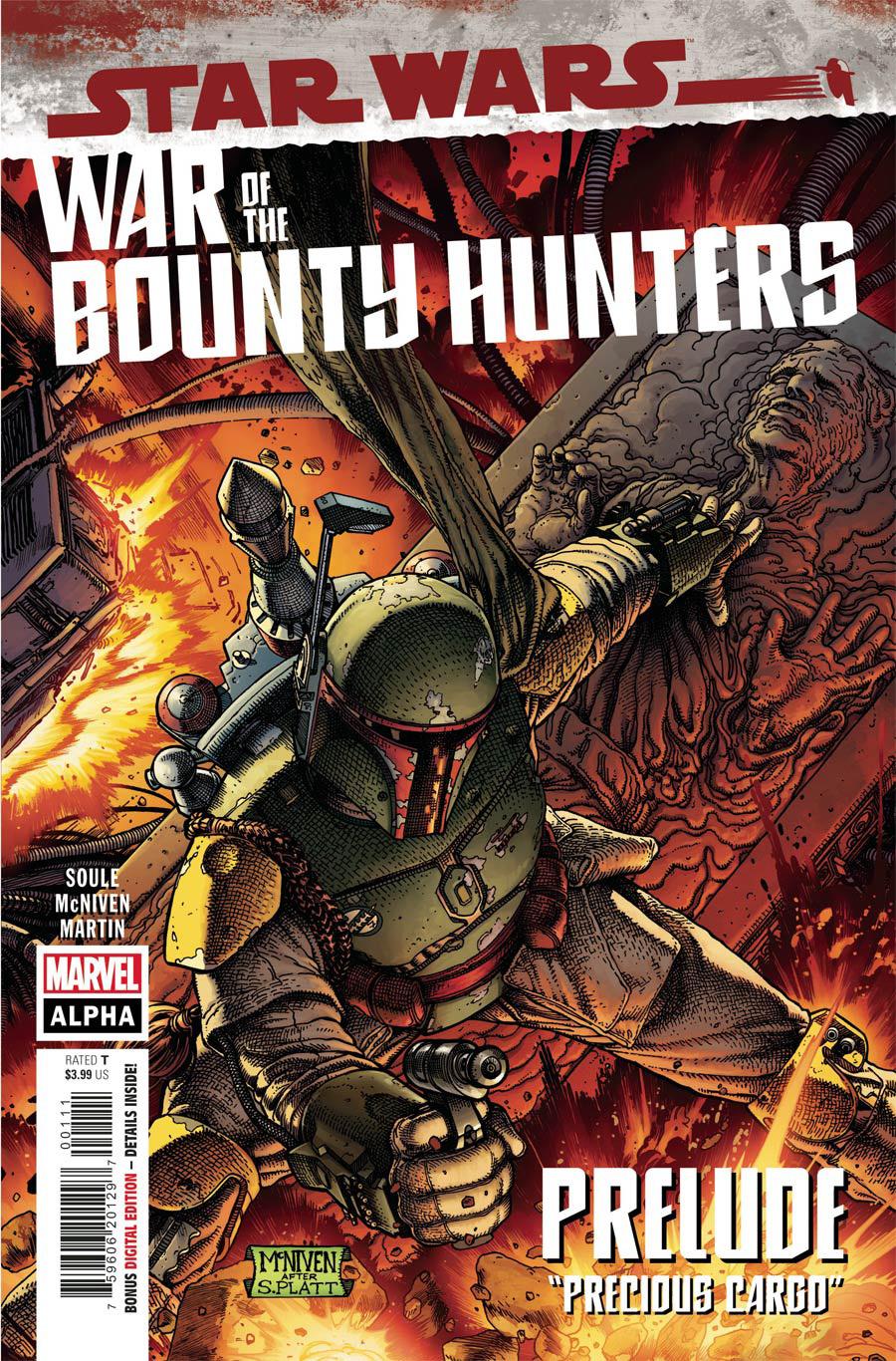 Star Wars War Of The Bounty Hunters Alpha #1 (One Shot) Cover A Regular Steve McNiven Cover (Limit 1 Per Customer)
