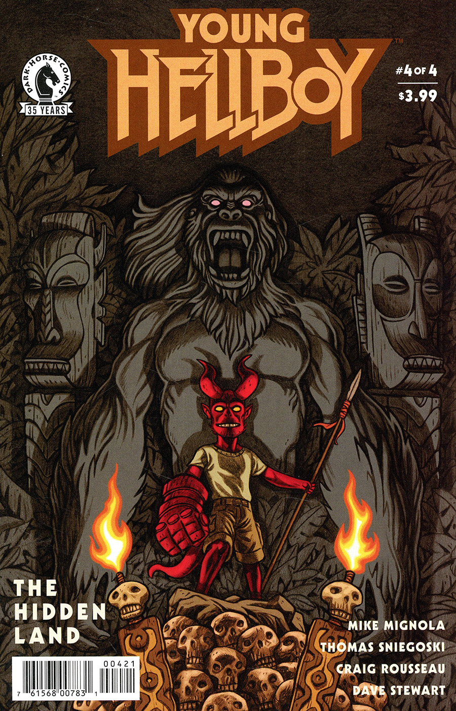 Young Hellboy The Hidden Land #4 Cover B Variant Anthony Carpenter Cover