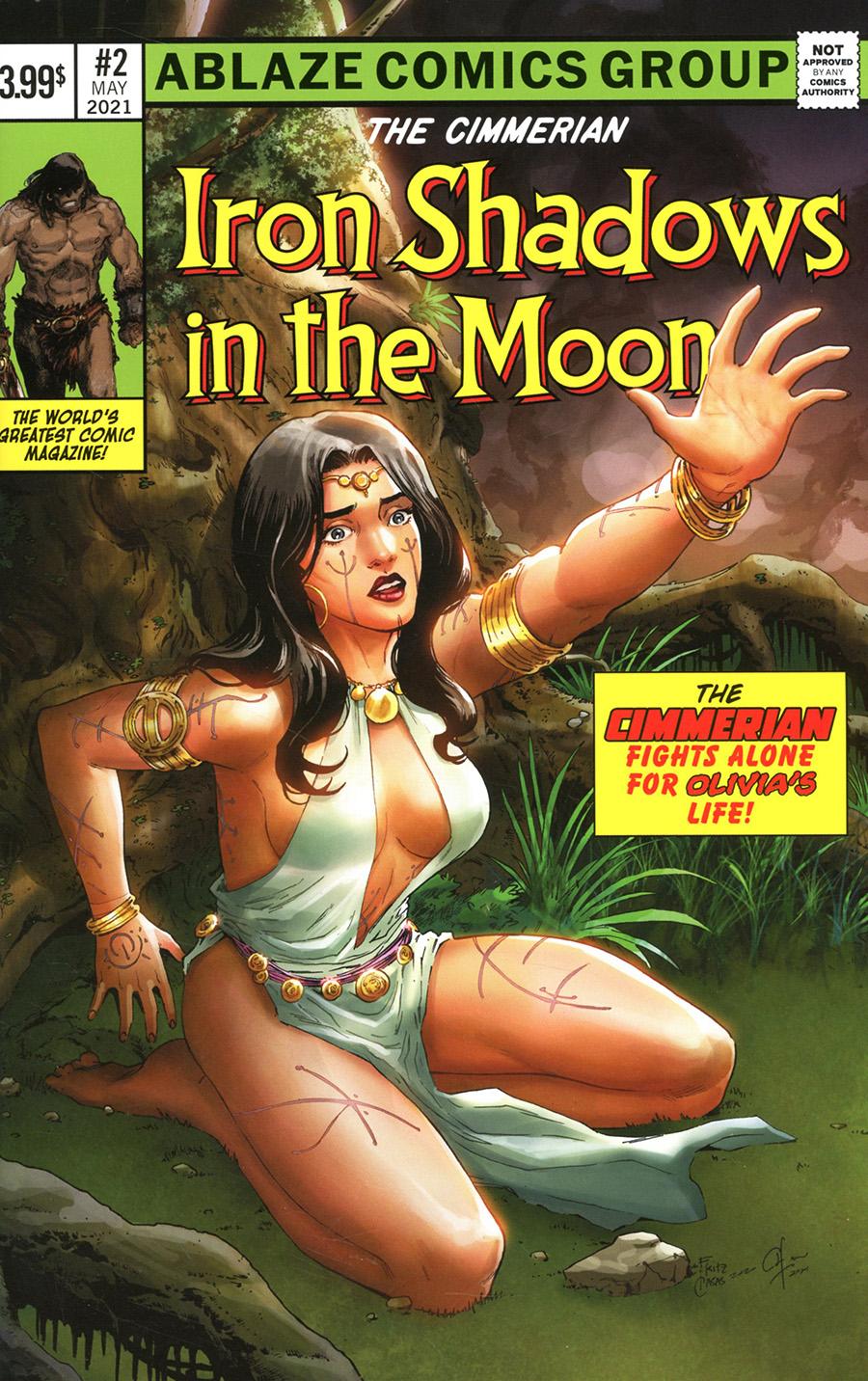 Cimmerian Iron Shadows In The Moon #2 Cover D Variant Fritz Casas Fantastic Four 245 Parody Cover
