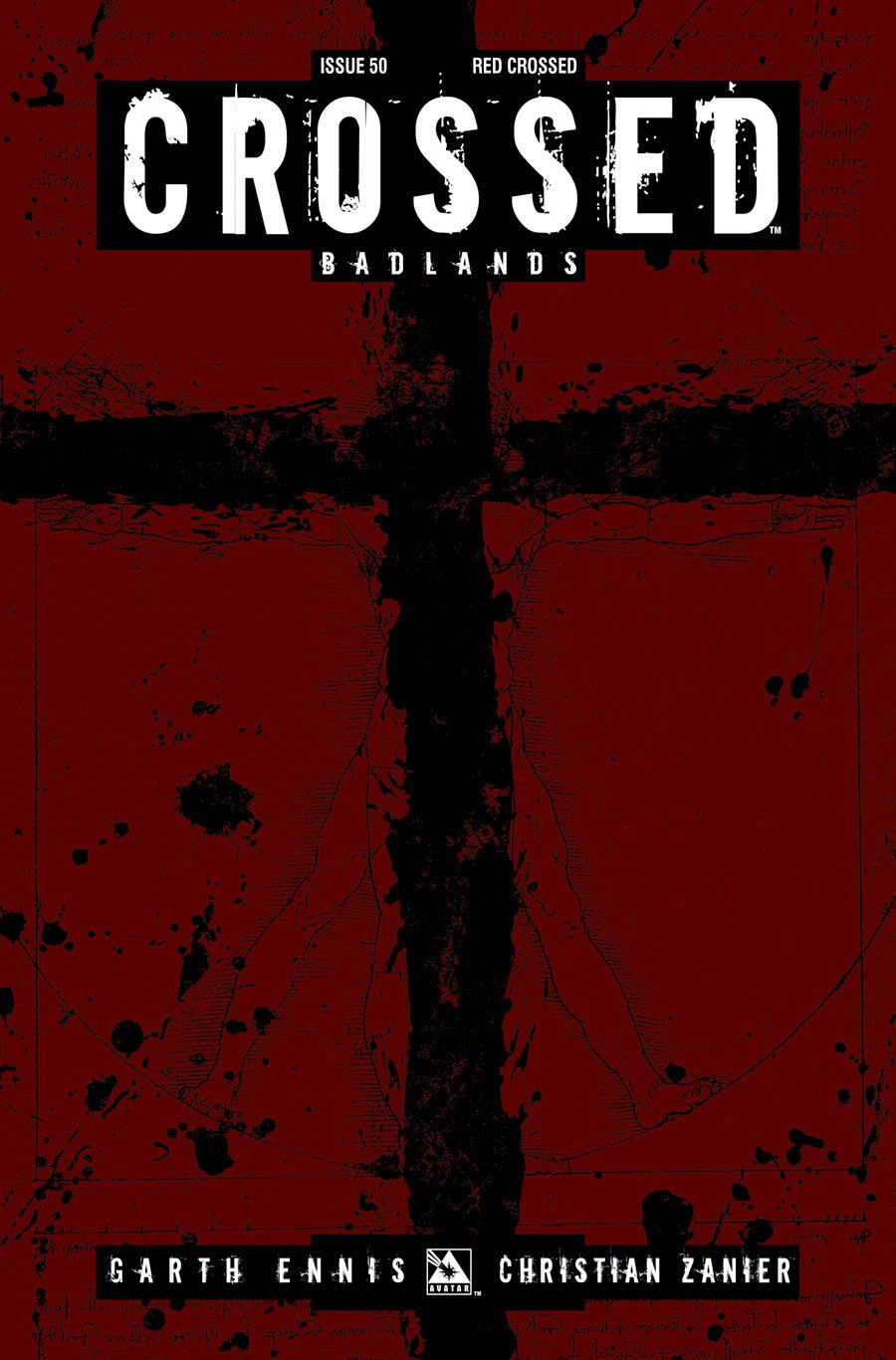Crossed Badlands #50 Red Crossed Cover (Sale Edition)