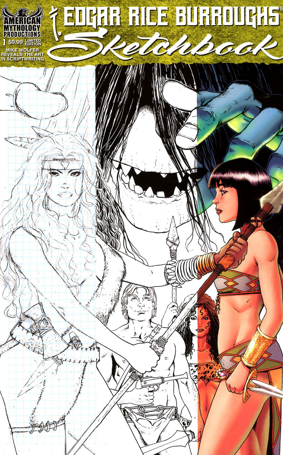 Edgar Rice Burroughs Sketchbook 2021 #1 Cover B Limited Edition Mike Wolfer Variant Cover