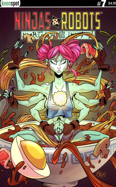 Ninjas And Robots #7 Cover C Variant Matt Young Cover