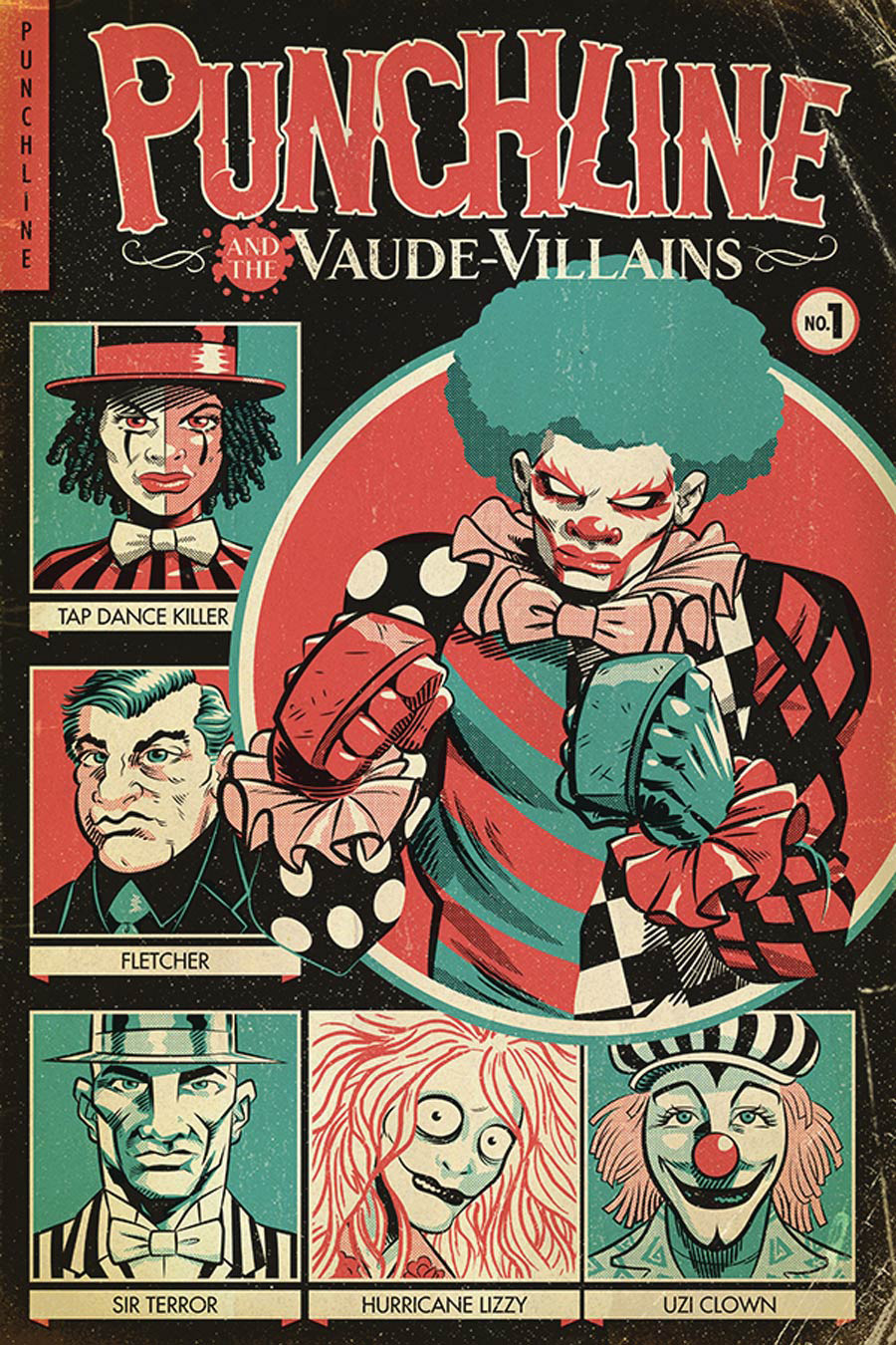 Punchline And The Vaude-Villains #1 Cover B Variant J Gonzo Cover