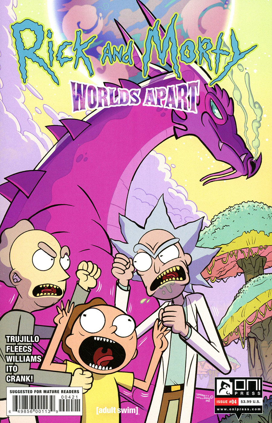 Rick And Morty Worlds Apart #4 Cover B Variant Jarrett Williams Cover