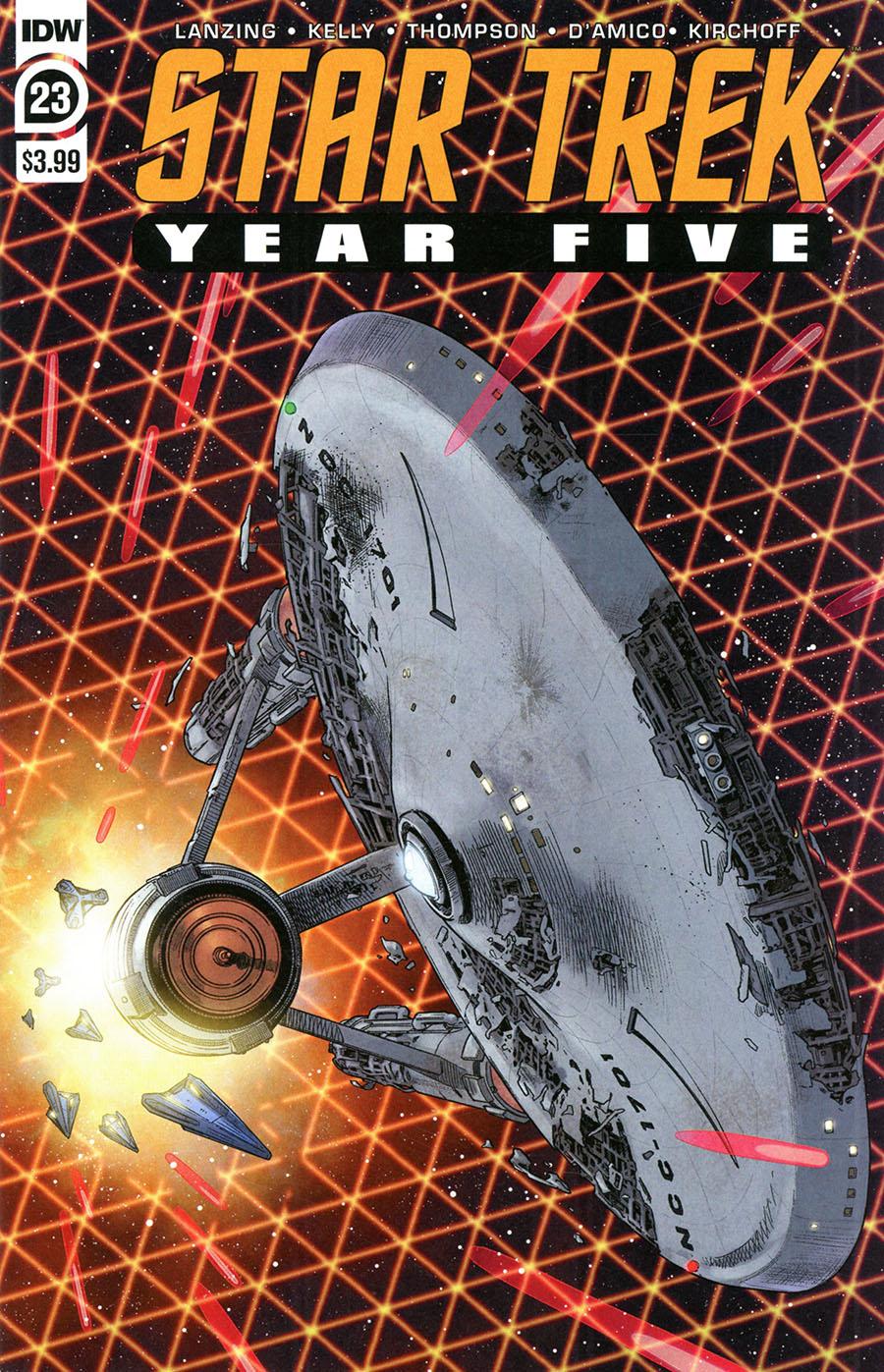 Star Trek Year Five #23 Cover A Regular Stephen Thompson Cover