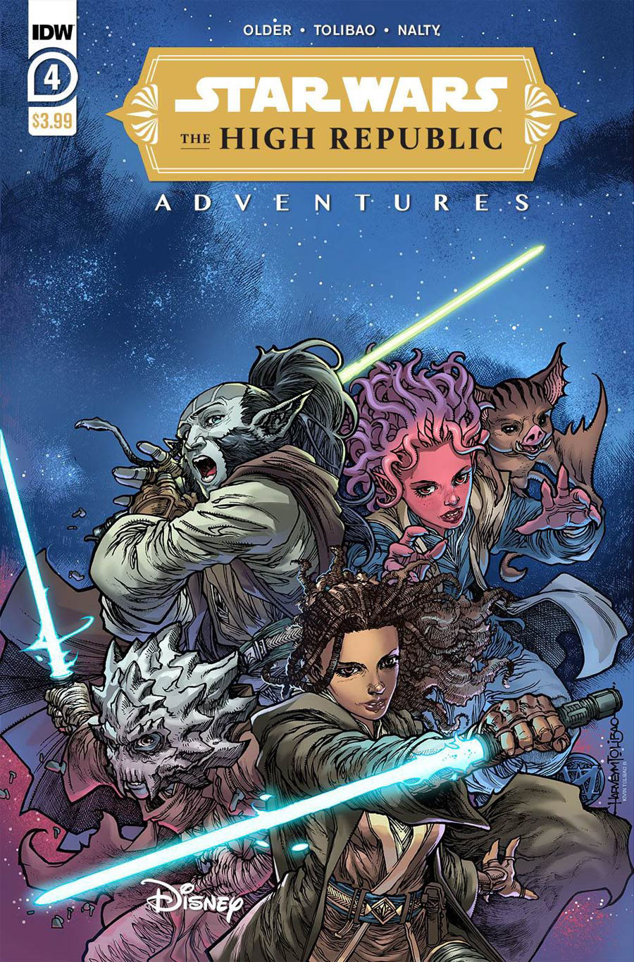 Star Wars High Republic Adventures #4 Cover A Regular Harvey Tolibao Cover