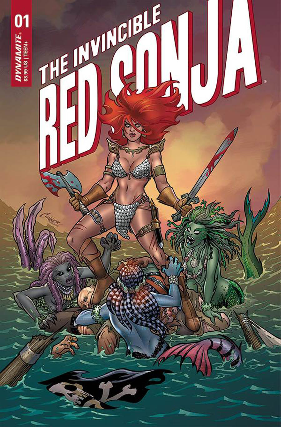 Invincible Red Sonja #1 Cover A Regular Amanda Conner Cover