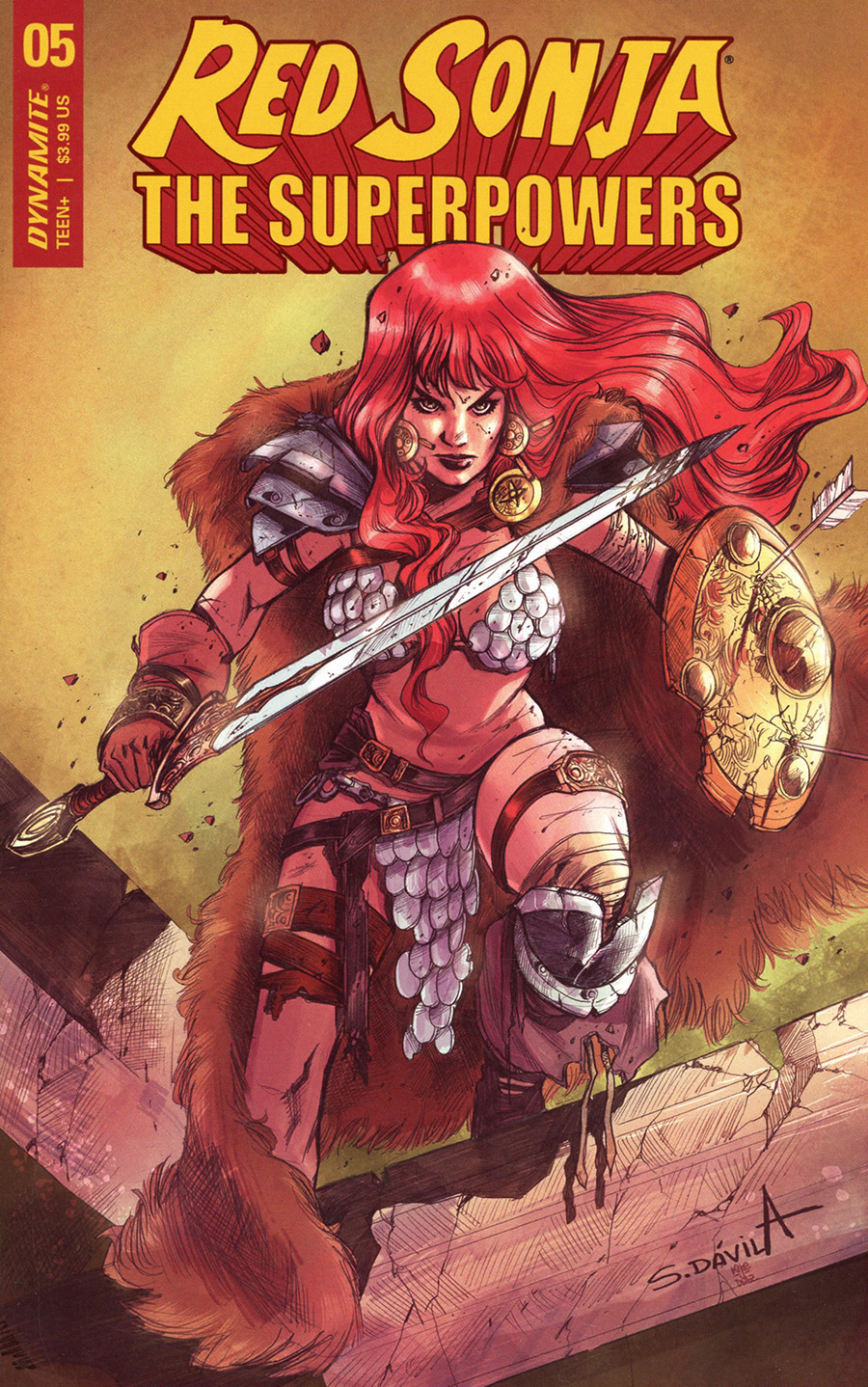 Red Sonja The Superpowers #5 Cover G Variant Sergio Davila Cover