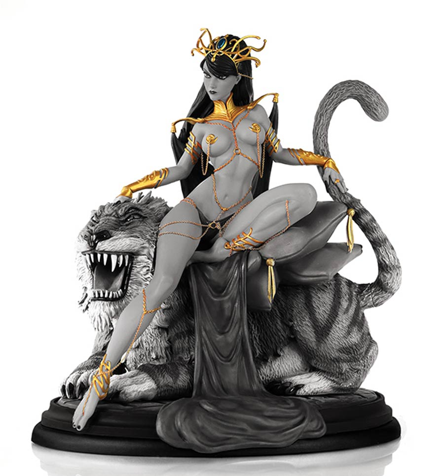Women Of Dynamite Dejah Thoris J Scott Campbell Inspired Diorama Statue Black & White Artist Proof Edition