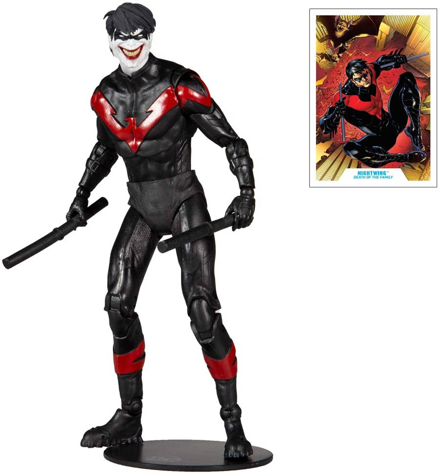 DC Multiverse Death Of The Family Nightwing Joker 7-Inch Scale Action Figure