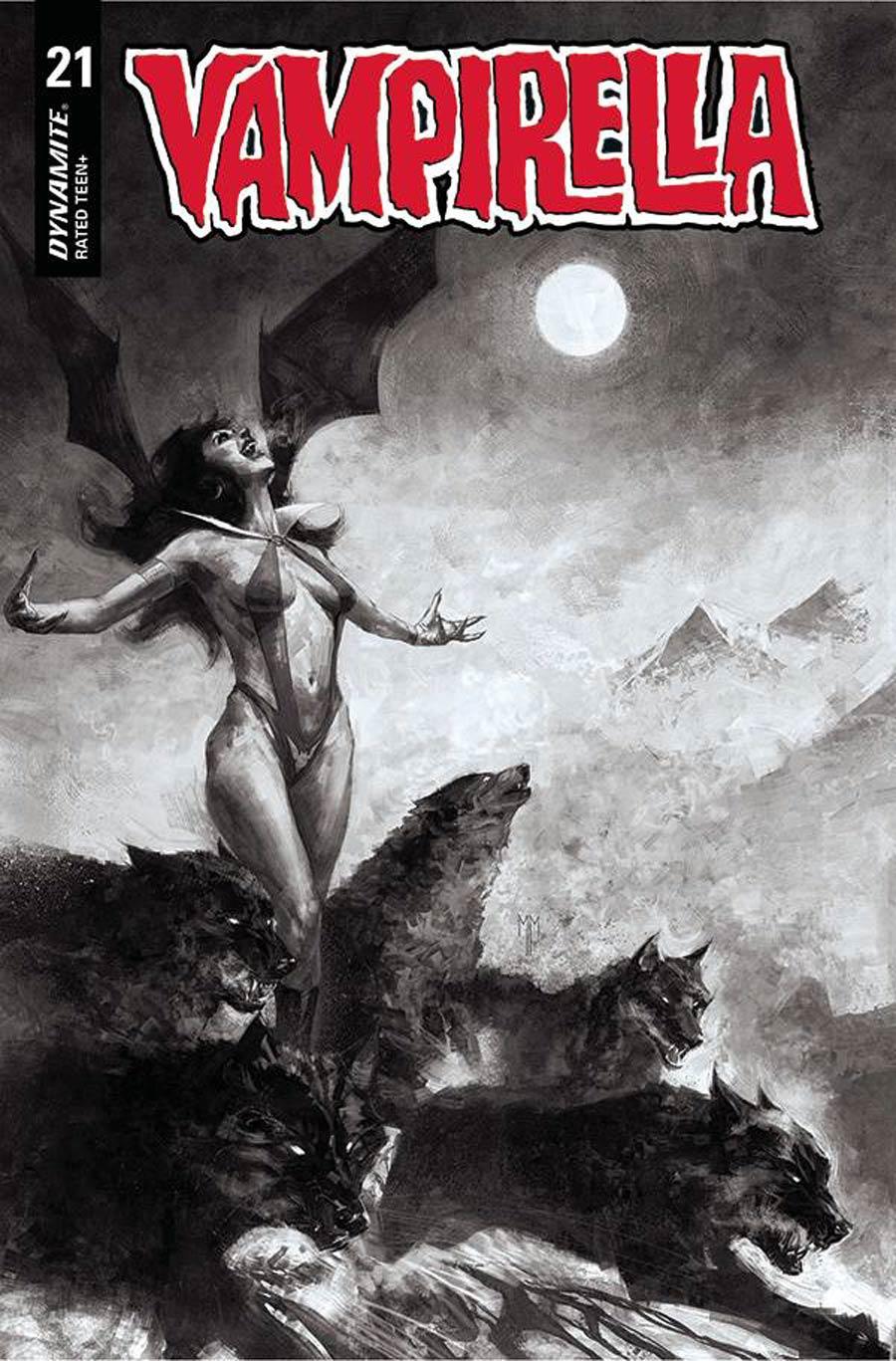 Vampirella Vol 8 #21 Cover P Incentive Marco Mastrazzo Black & White Cover