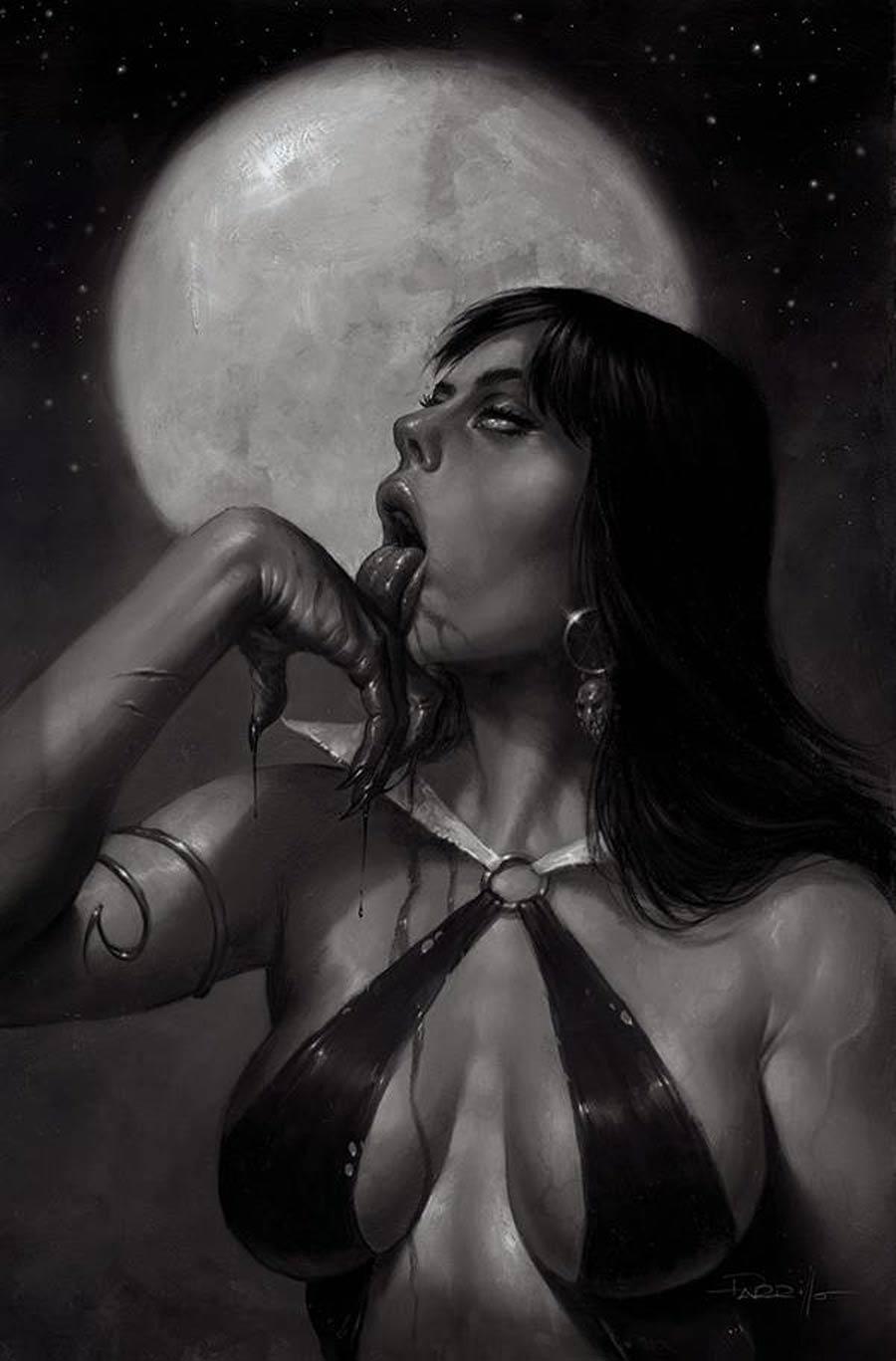 Vampirella Vol 8 #21 Cover Q Incentive Lucio Parrillo Black & White Virgin Cover
