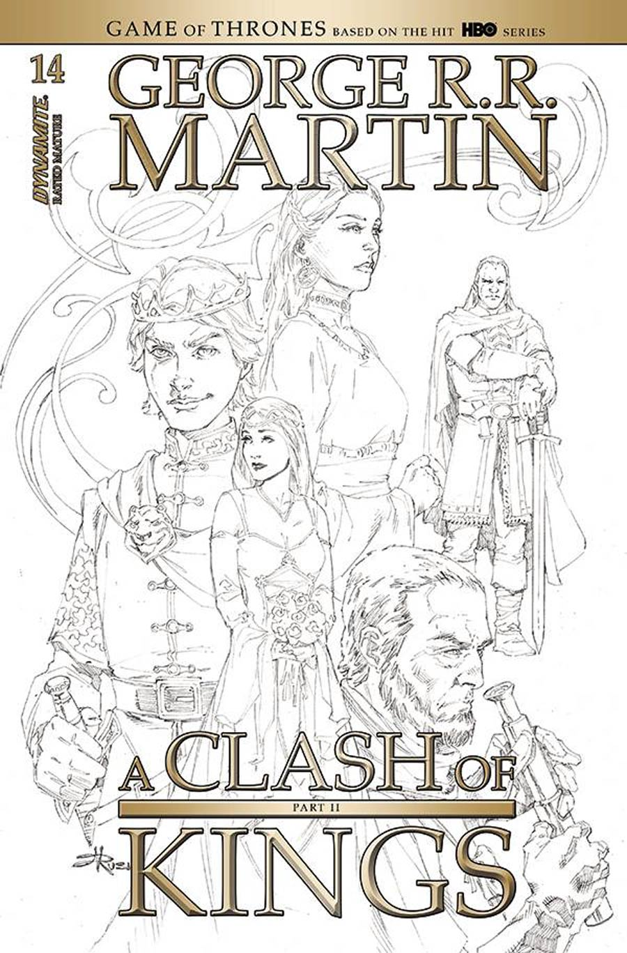 Game Of Thrones Clash Of Kings Vol 2 #14 Cover D Incentive Mel Rubi Black & White Cover