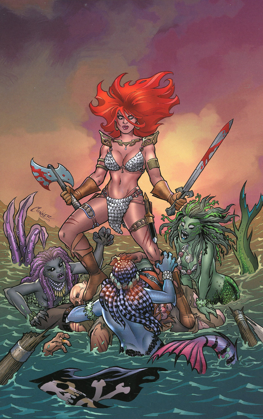 Invincible Red Sonja #1 Cover S Limited Edition Amanda Conner Virgin Cover
