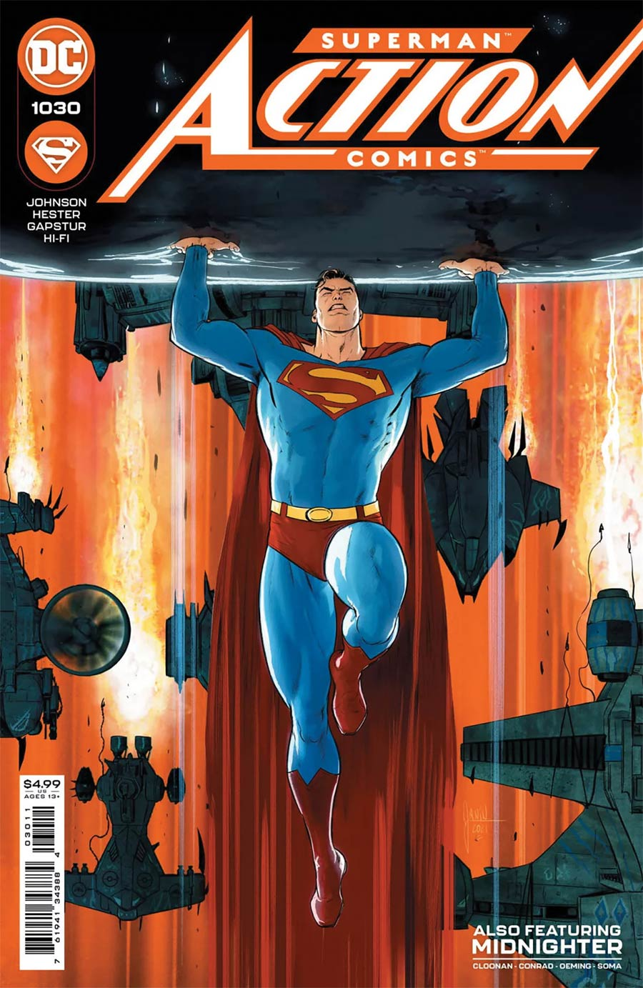 Action Comics Vol 2 #1030 Cover C DF Signed By Phillip Kennedy Johnson