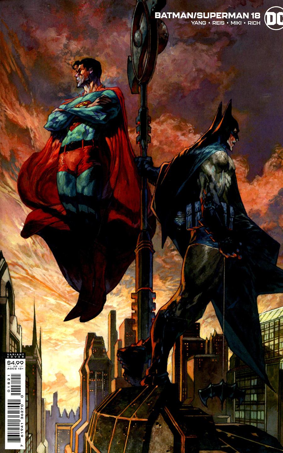 Batman Superman Vol 2 #18 Cover B Variant Simone Bianchi Card Stock Cover