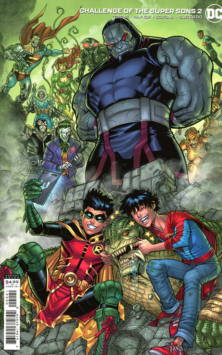 Challenge Of The Super Sons #2 Cover B Variant Nick Bradshaw Card Stock Cover