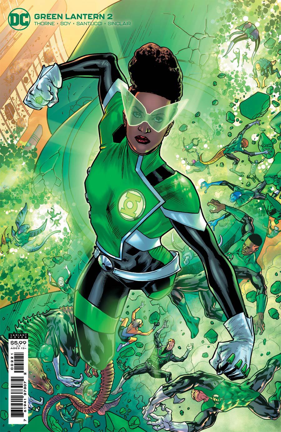 Green Lantern Vol 7 #2 Cover B Variant Bryan Hitch Card Stock Cover