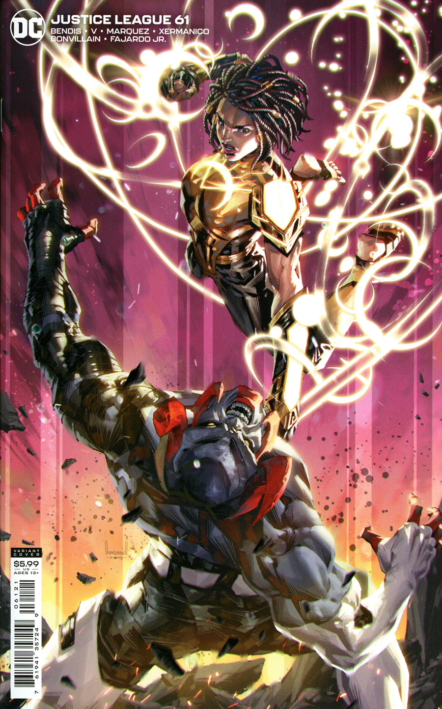 Justice League Vol 4 #61 Cover B Variant Kael Ngu Card Stock Cover