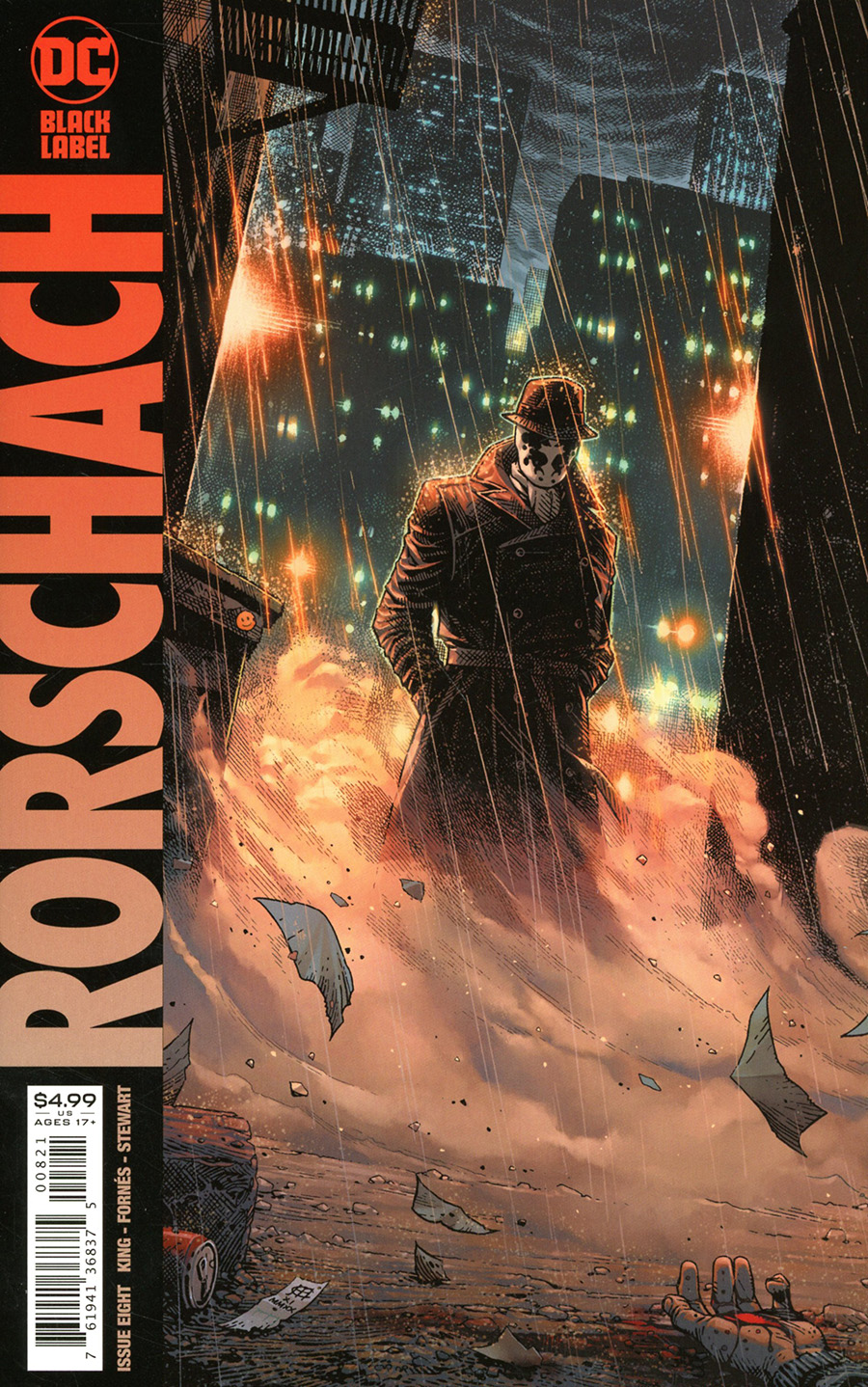 Rorschach #8 Cover B Variant Jim Cheung Cover