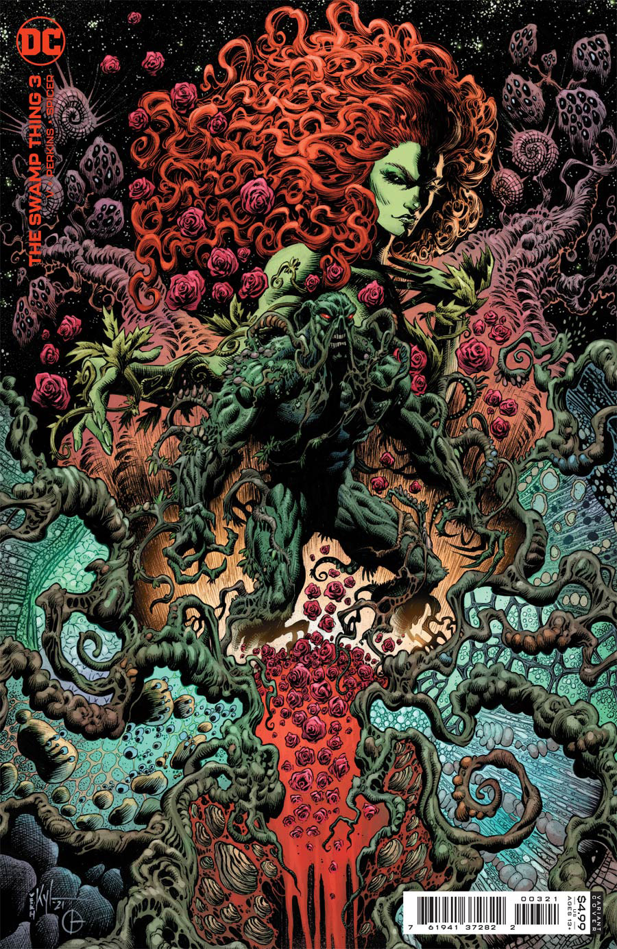 Swamp Thing Vol 7 #3 Cover B Variant Kyle Hotz Card Stock Cover