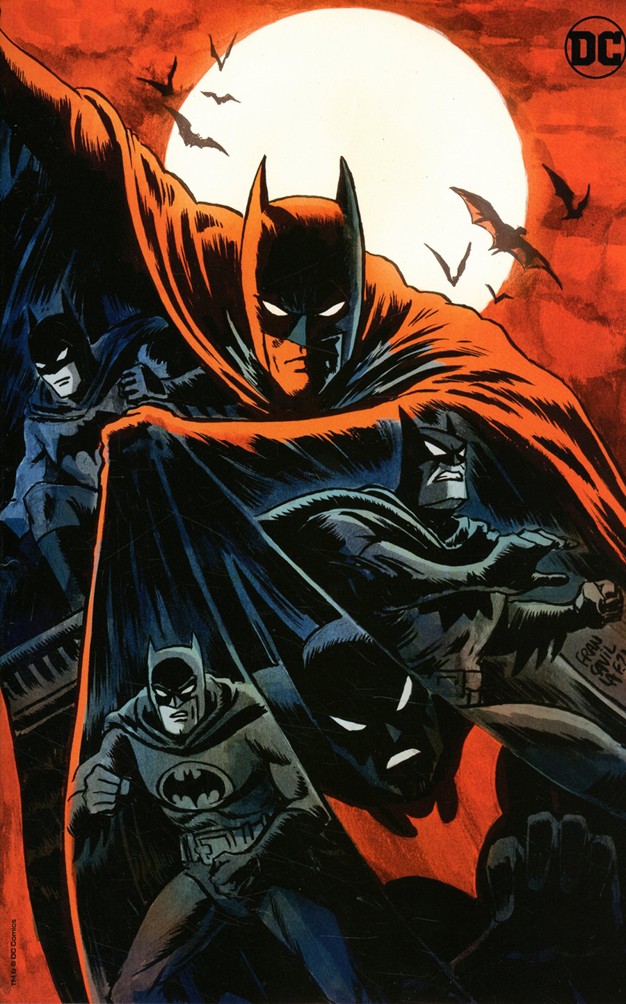 Legends Of The Dark Knight Vol 2 #1 Cover C Variant Francesco Francavilla Team Card Stock Cover