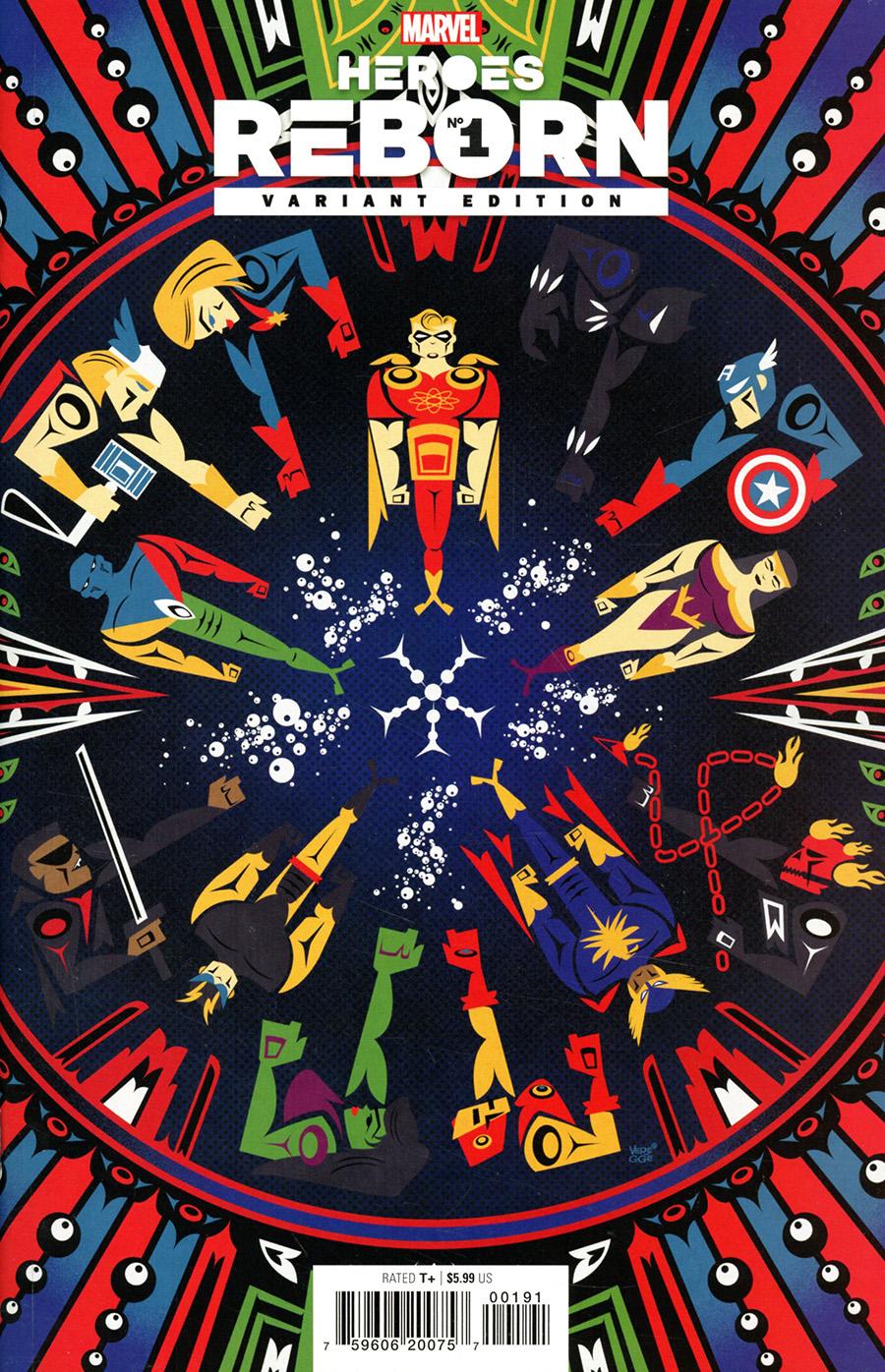 Heroes Reborn #1 Cover J Incentive Jeffrey Veregge Variant Cover