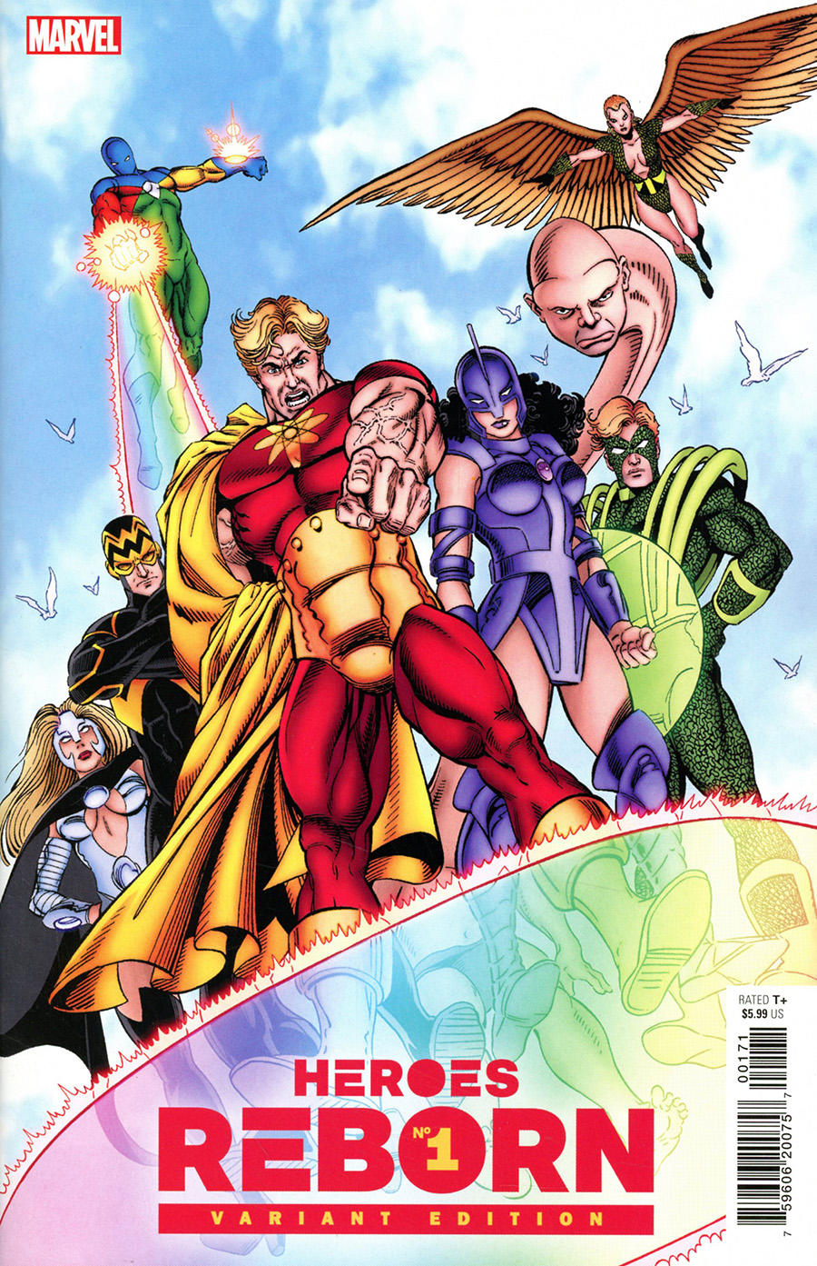 Heroes Reborn #1 Cover K Incentive George Perez Hidden Gem Variant Cover