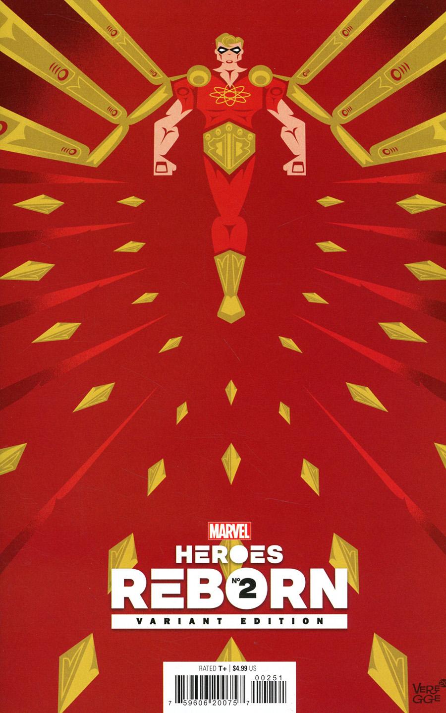 Heroes Reborn #2 Cover F Incentive Jeffrey Veregge Variant Cover